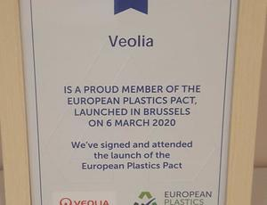 Veolia proud sponsor of Europe Plastic Pact
