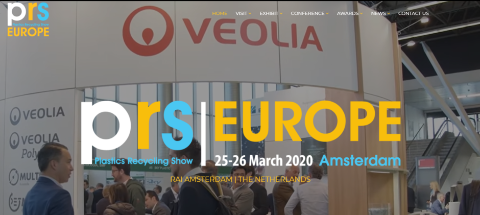 Plastic Recycling Show Europe - home page website